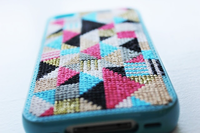 Iphone cover embroidery