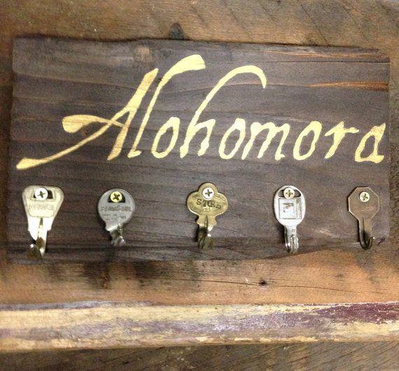 Alohomora Spell Harry Potter Barn Wood Key by TheSunnyFarmhouse