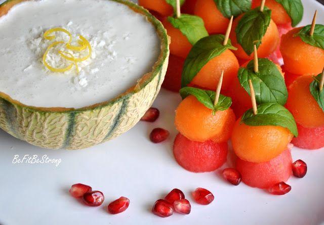 Just Be Fit Be Strong!: Letnia przekąska - żołnierzyki z arbuza, melona i mięty z dipem kokosowo-limonkowym