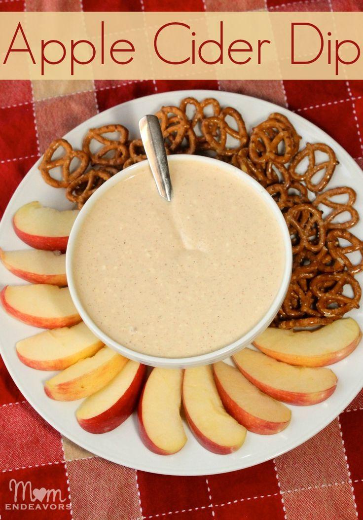 Apple Cider Dip perfect for fall! via momendeavors.com