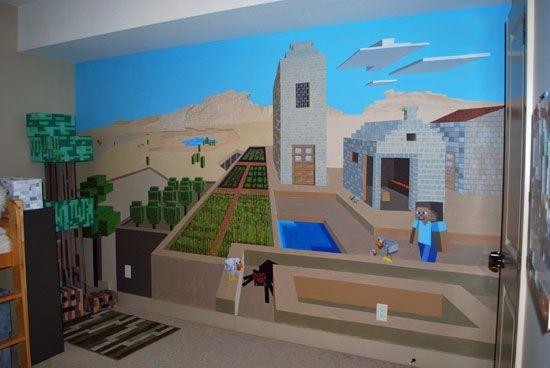 Best Papier Peint Mur Minecraft Chambre Minecraft Pinterest 640 x 480