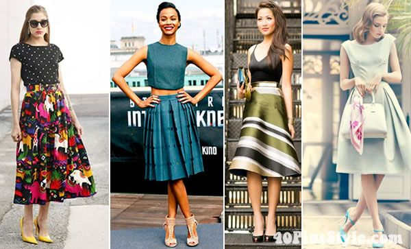 How to wear an a-line skirt over 40 and rock the 50s look!