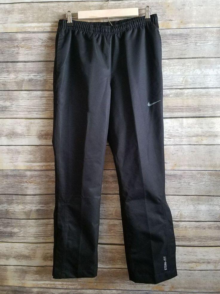 Nike Golf Storm-Fit Waterproof Lined Rain Pants Black Zipper Velcro Legs - Small | Sporting Goods, Golf, Golf Clothing, Shoes & Accs | eBay!