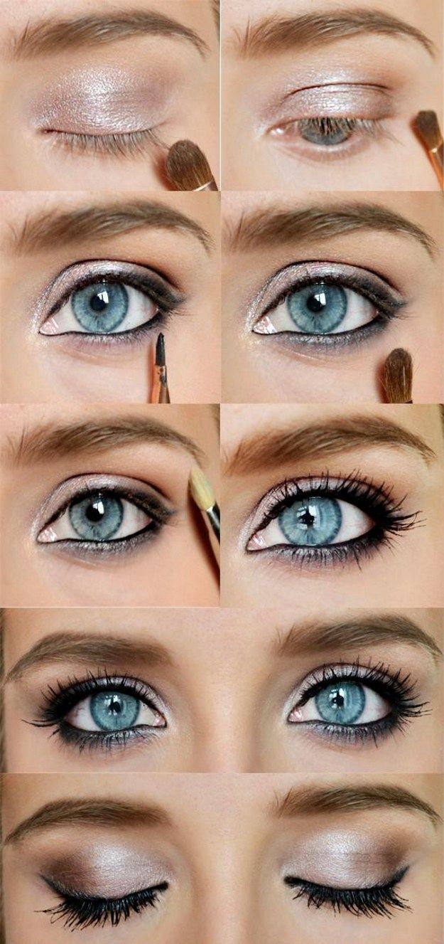 How to Do Sexy Blue Eyes Makeup | Gold Eyeshadow Tips by Makeup Tutorials at http://www.makeuptutorials.com/makeup-tutorial-12-makeup-for-blue-eyes