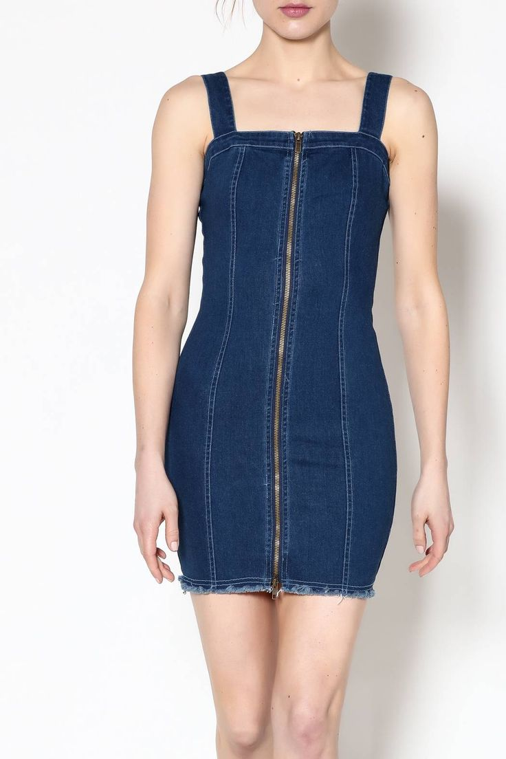 Shoptiques Product: Fitted Denim Dress - main