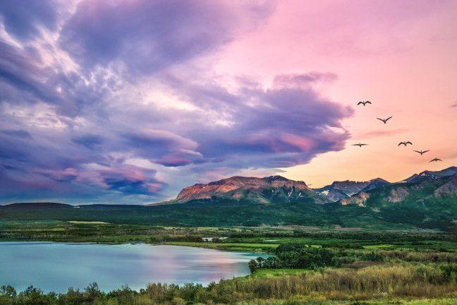 Camping in Waterton Lakes National Park, Alberta