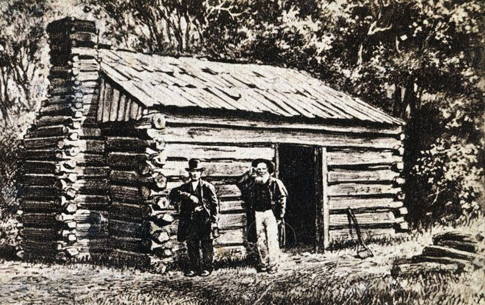 Lincoln S Path To The White House Abe Was Born In A Log Cabin Like This One Now His Family Would Seem Very Poor B Lincoln Illinois Photo President Lincoln
