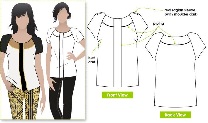 Amber Woven Blouse Sewing Pattern By Style Arc