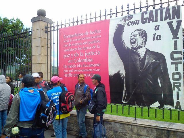 29 de mayo, marcha por las víctimas. Parque del Renacimiento. Gaitán.