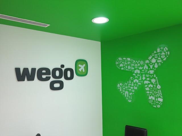 Wego's airplane with travel elements
