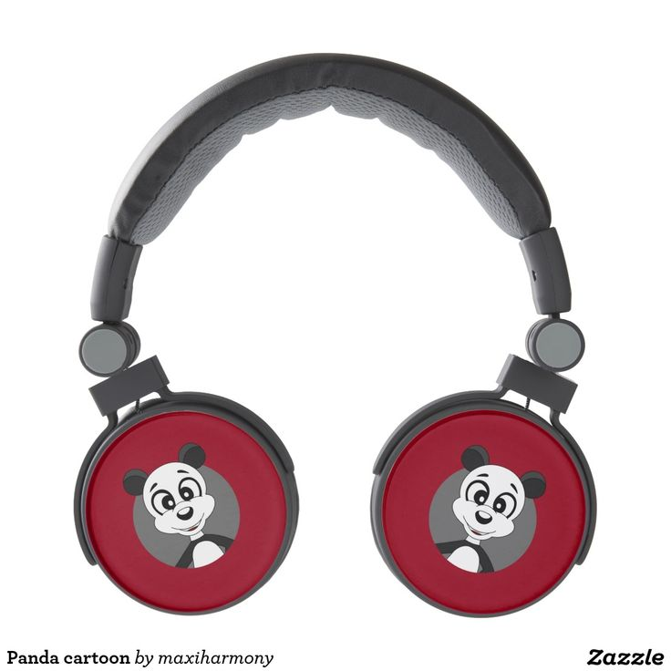Panda cartoon headphones