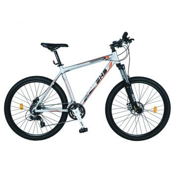 Bicicleta Mountain Bike Hardtail DHS Terrana 2725 - model 2015 27'', Gri/Portocaliu, Barbati