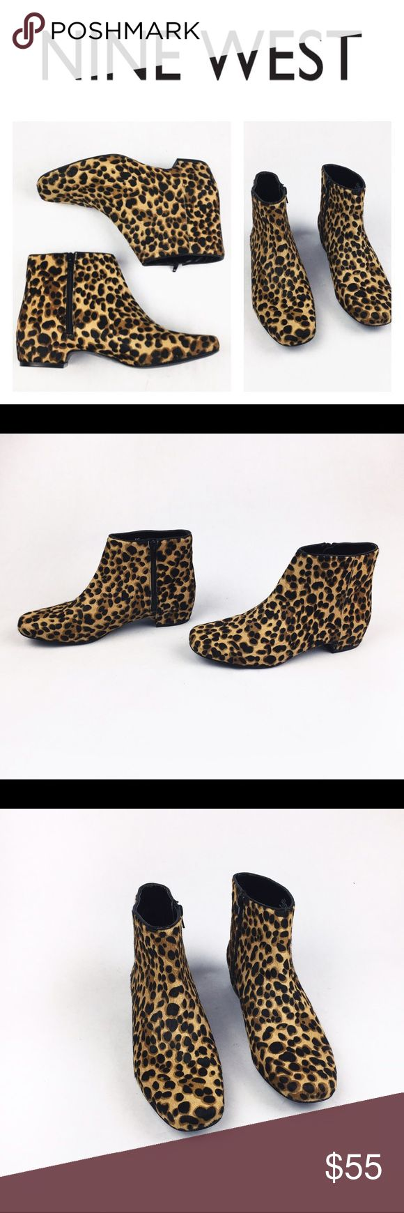 NINE WEST CHEETA REAL COW FUR ANKLE BOOTS SZ9.5 Divine and fierce Nine West cheetah ankle booties made with leather and real cow fur in size 9.5. These boots are even prettier and edgier in person! If you want to make a statement, these are 4u! Brand new, never worn! They come without a box so might have some handling signs (couldn't find any) Love them? Make an offer! Questions? Ask me 🌹💖 Nine West Shoes Ankle Boots & Booties