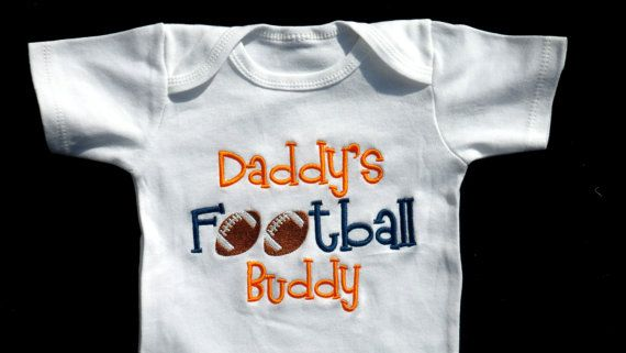 Football Onesie Daddy's Football Buddy Sports Onesie by LilMamas, $16.90