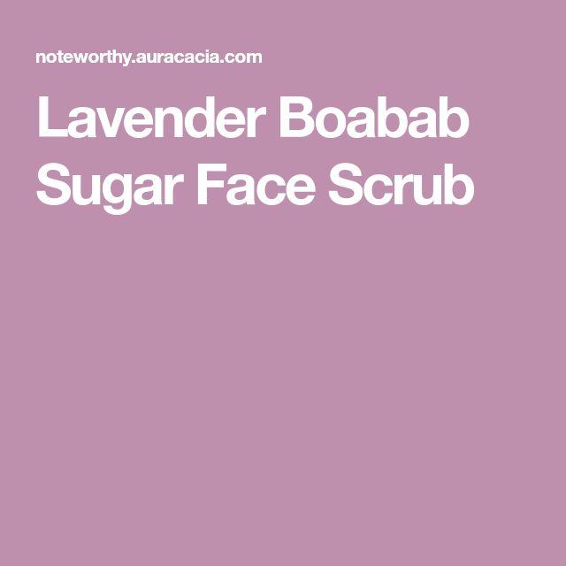 Lavender Boabab Sugar Face Scrub