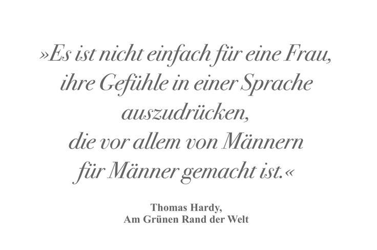 Thomas Hardy, Zitat, am grünen Rand der Welt