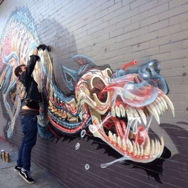 Streetart: Nychos New Mural in San Francisco // USA (7 Pictures) > Film-/ Fotokunst, Paintings, Streetstyle > mural, nychos, public art, san fran