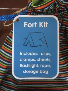 Pie Birds, Buttons and Muddy Puddles: Make Your Own Fort Kit!