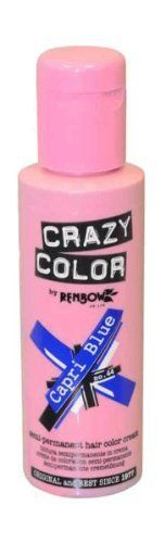 Crazy Color Semi Permanent Hair Color Cream Capri Blue No.44 100ml , 4 Count by Crazy Color >>> Check out the image by visiting the link. #hairoftheday