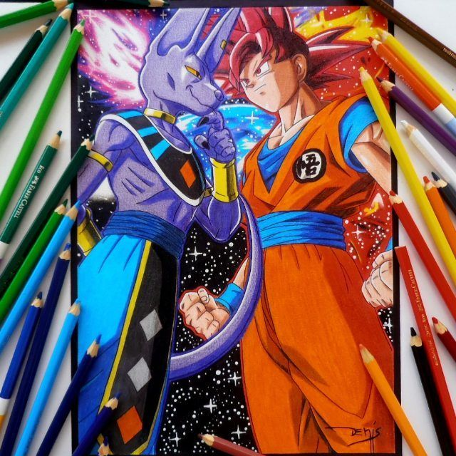 Goku Super Saiyan God Vs Bills O Destruidor Ig Pessoal Denismatias V Denismatiasart In 2020 Anime Dragon Ball Super Dragon Ball Super Goku Super Saiyan God