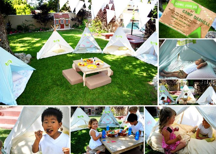 Fun Toddler Party Games Backyard Camping