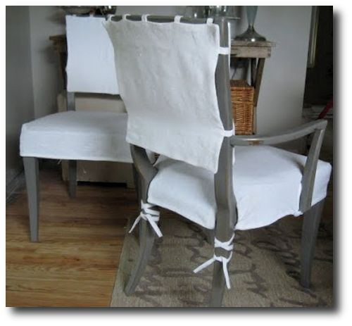 white slipcovers for dining chair with arms by donna jenkins