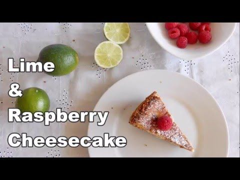 Lime and Raspberry Cheesecake - YouTube