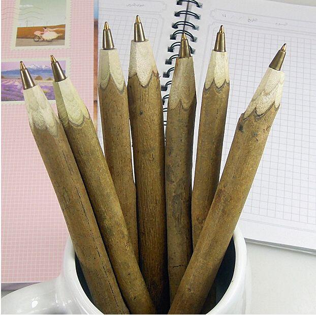 1pcs/lot  NEW Vintage handmade wooden Environmental ball pen Lovely ballpoint pen
