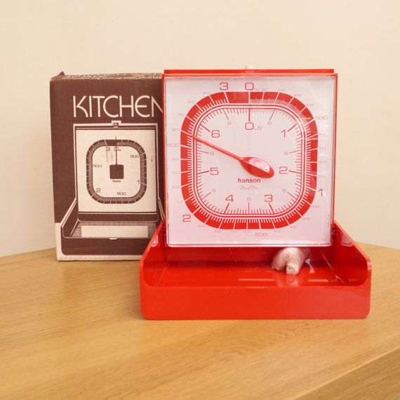 Vintage red / Vintage red / orange plastic kitchen by UKAmobile