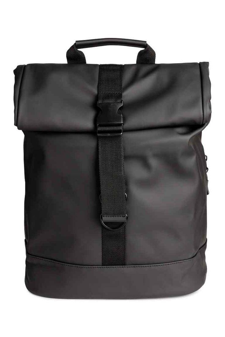 Gumírozott hátizsák - Fekete - FÉRFI | H&M HU 1