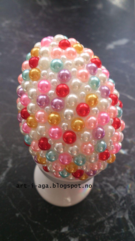 Egg, Spring, pearls, DIY, hand made