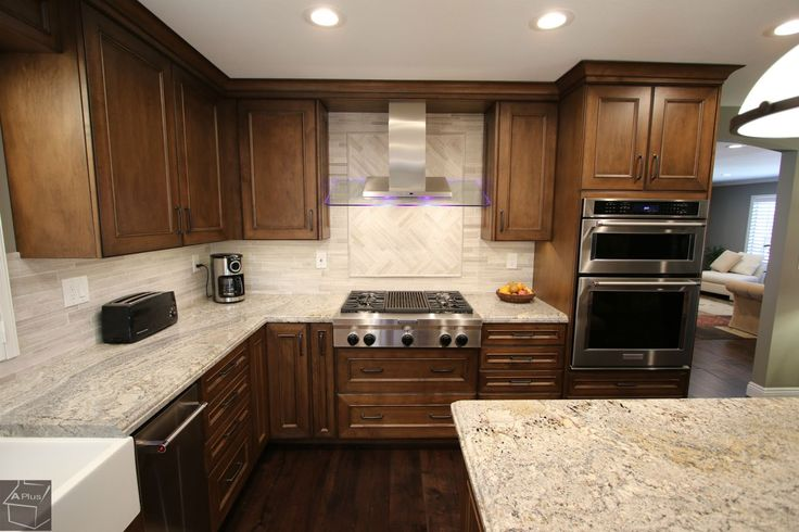 #Transitional design build #Kitchen #Home & #entertainmentcenter #remodel with custom Aplus #cabinets in city of #WestCovina