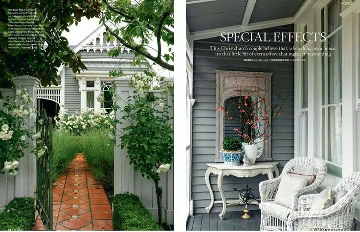 "NZ House and Garden - Christchurch NZ - Special Effects. Weatherboards painted in Resene ""Tapa"""