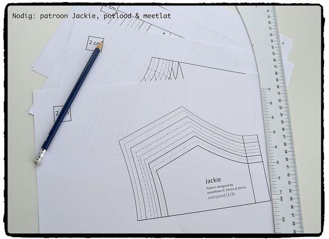 Hoe teken je een patroon 1 à 2 maten groter (of kleiner)? - IeneMiene