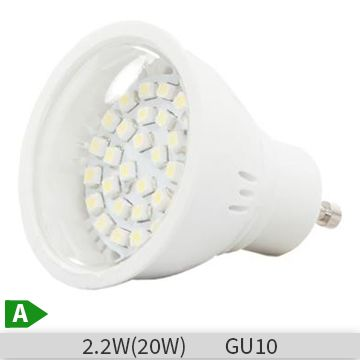 Bec LED spot Albach LED30 2.2W, GU10, lumina rece