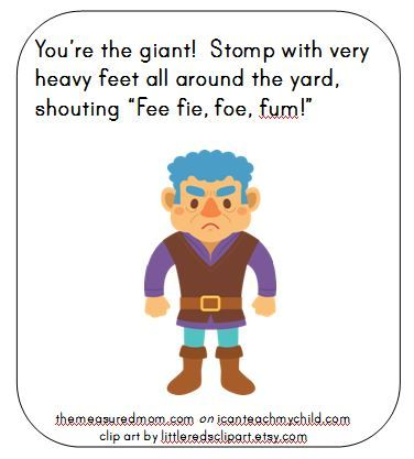 giant i can teach my child An Outdoor Game for Kids who Love Fairy Tales (with printable action cards)