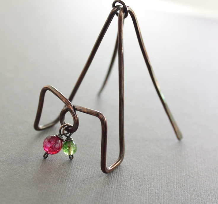 16 best business card holder images on pinterest business card this really unusual and artisan business card holder hand forged with 12 gauge solid copper wire colourmoves
