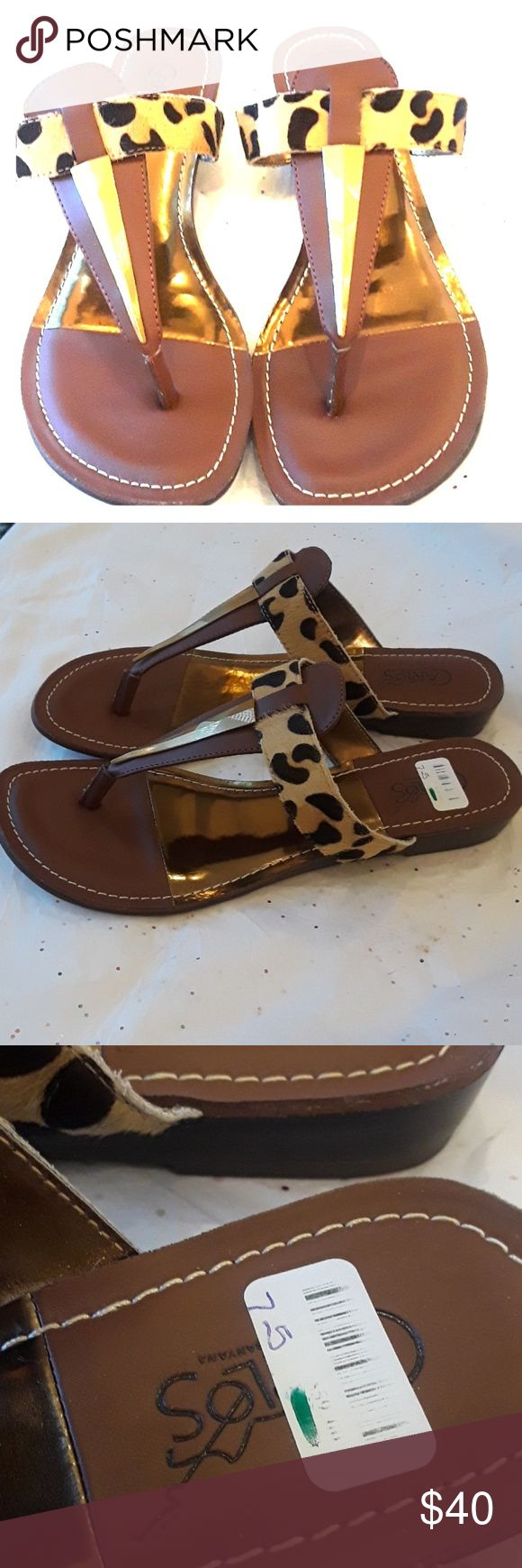 Carlos Santana Leopard Print Sandals Authentic Carlos Santana Leopard Print shoes. Size 7.5 , never used, beautiful print. Classic look that's comfortable.  Ask questions as all sales are final,  Happy Poshing. Carlos Santana Shoes Sandals