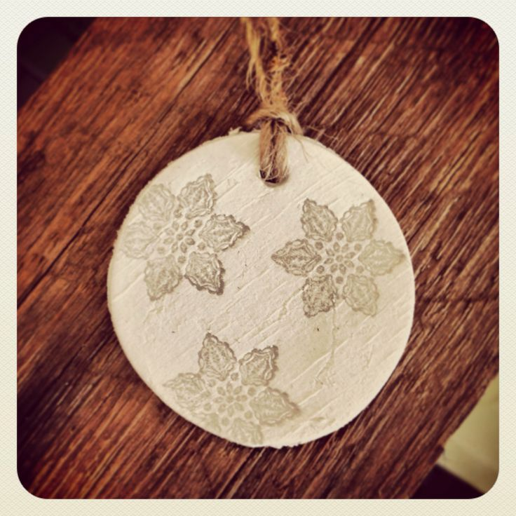 Clay gift tag