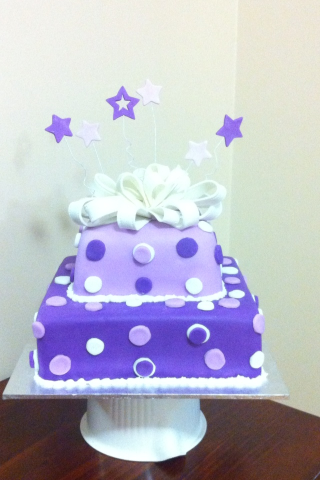 My God daughter's Baptism Cake!