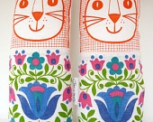 Original Scandinavian style 70s fabric handmade cat toy plush softie by Jane Foster. $27.00, via Etsy.