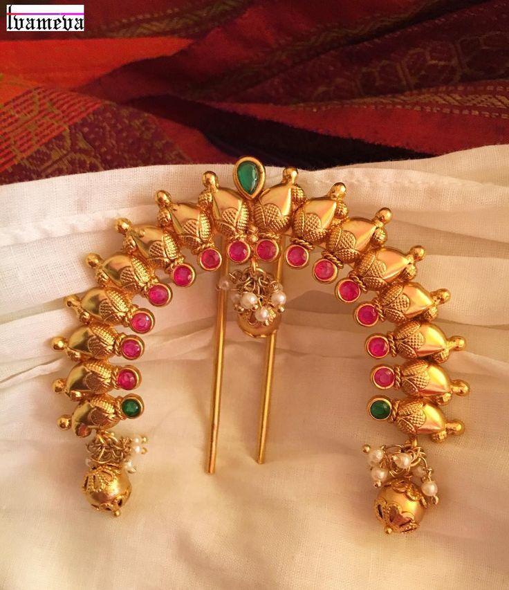 "458 Likes, 11 Comments - Tvameva | Swati (@tvameva) on Instagram: ""New Launch ❤️ Jada billa - Hair accessories - Brides - Must haves #tvameva #newarrivals…"""