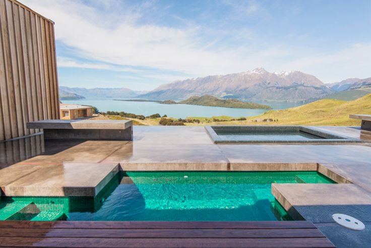 aro ha wellness retreat overlooks new zealand landscape