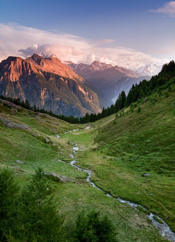 Glorious morning in the sticks: God Is, Tina Reid, Jon Reid, Switzerland, Swiss Alps, Belalp, Landscape,  Vale, Photography