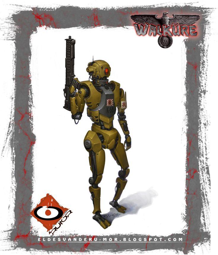 Robot kempeitai para el juego de rol Walküre