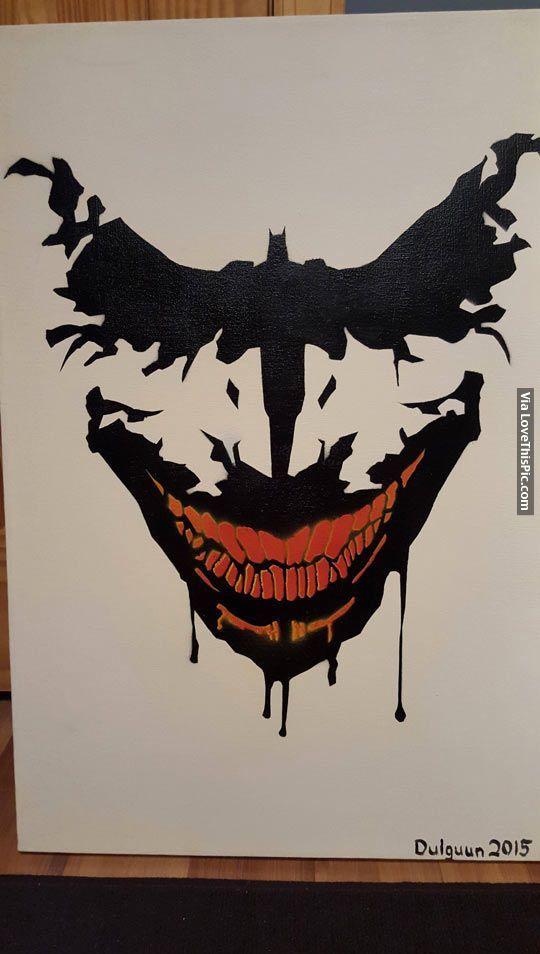 26292f254220 Batman Painting art painting batman joker