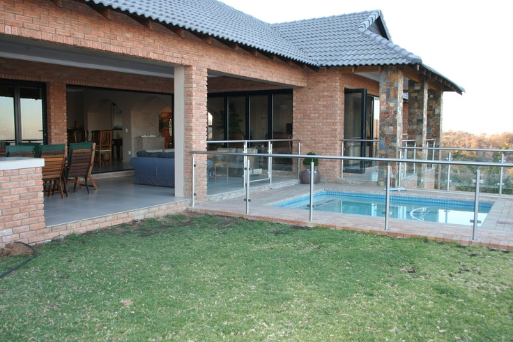 Garden, pool and patio.