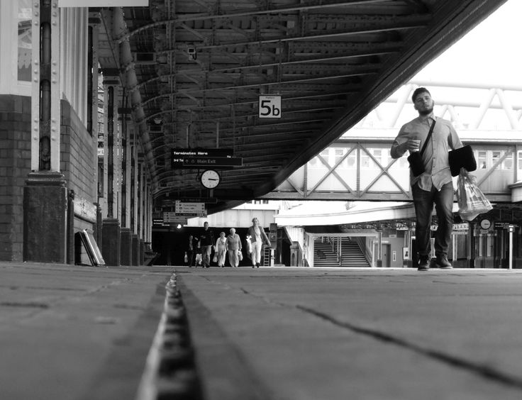 Nottingham Station. 5b. Sept 2016.  Nottingham Station. POV. DOF Nottingham Station. Carrington Street, Nottingham. #BlackAndWhite #StreetPhotography
