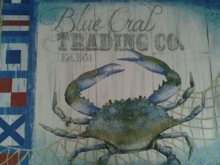 Nautical Placemats Vinyl Blue Crab Trading Co Set of  4 NEW #Nantucket