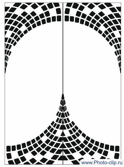Пескоструйный рисунок Абстракция №300